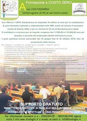 Avviso n.1 2015 Fondimpresa