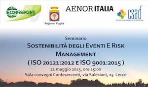 Seminario Sostenibilità degli Eventi E Risk Management